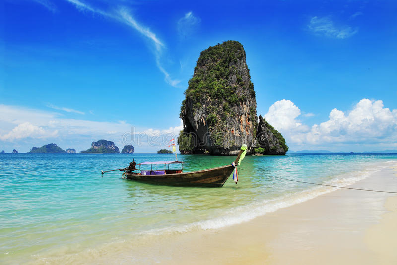Exotisch landschap in Thailand stock afbeelding