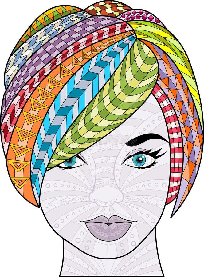 Download Exotisch Meisje vector illustratie. Illustratie bestaande uit elegant - 54085212