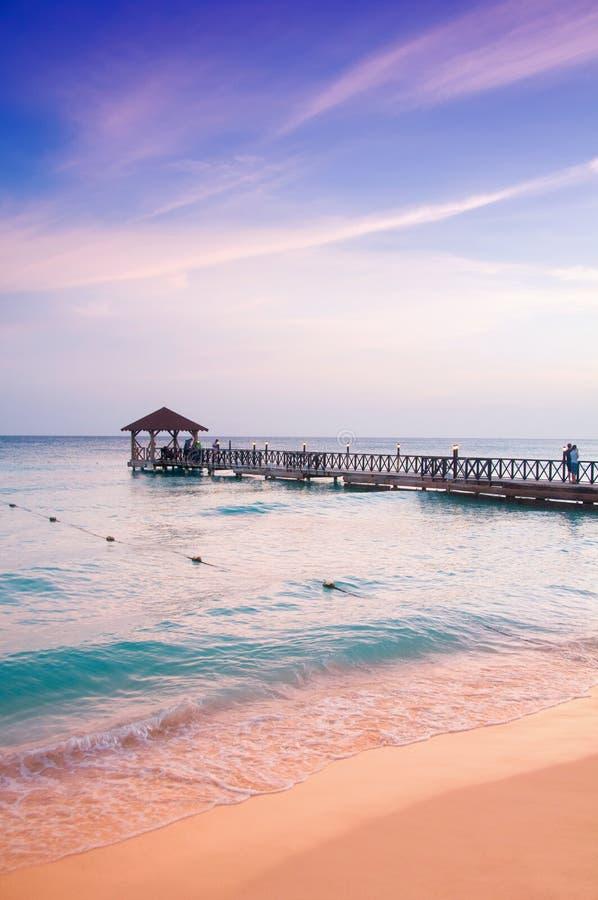 Exotisch Paradijs Het concept reis, toerisme en vakanties Een tropische toevlucht in de Caraïben royalty-vrije stock foto