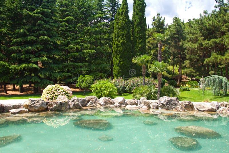 Exotisch park royalty-vrije stock afbeeldingen