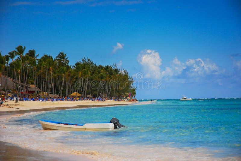 Exotisch Strand in Dominicaanse Republiek royalty-vrije stock foto's