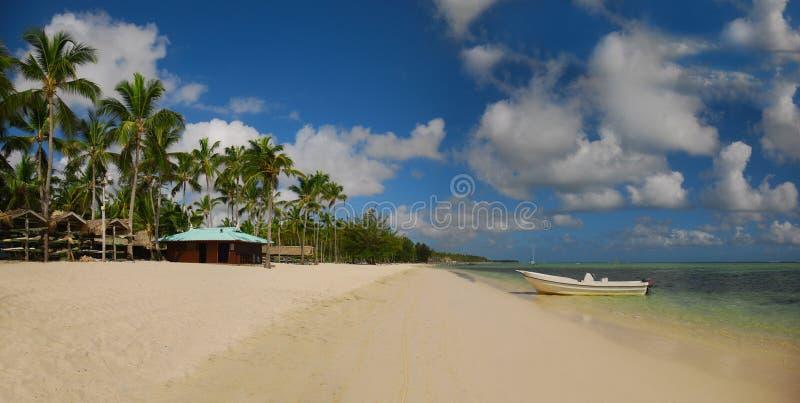Exotisch Strand in Dominicaanse Republiek, puntacana stock afbeelding