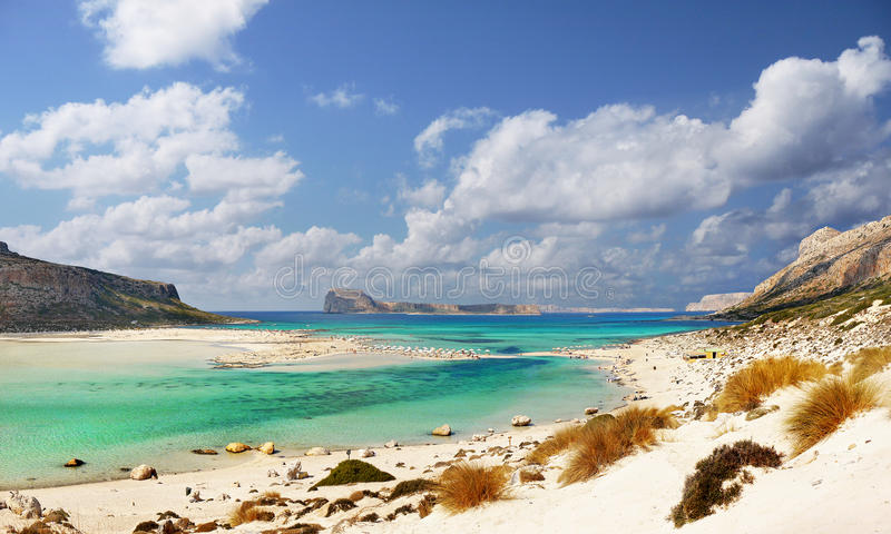 Exotisch Strand, het Eiland van Kreta stock foto