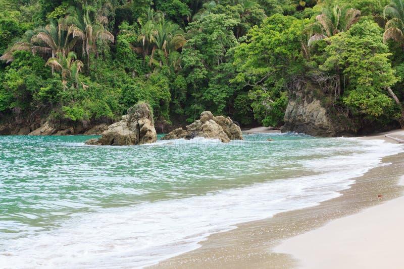 Exotisch strand Manuel Antonio Costa Rica royalty-vrije stock afbeeldingen