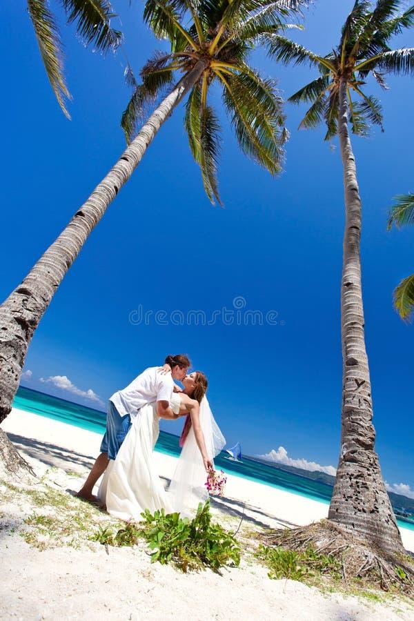 Exotisch tropisch huwelijk stock foto