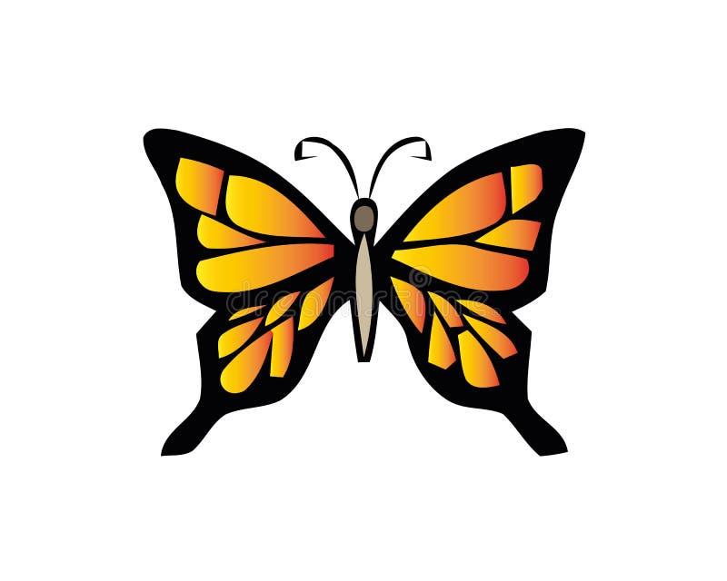 Exotisch vlinder vectorpictogram op witte achtergrond stock illustratie