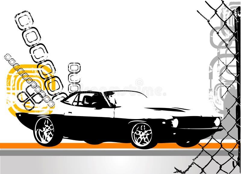 Exotische autovector vector illustratie