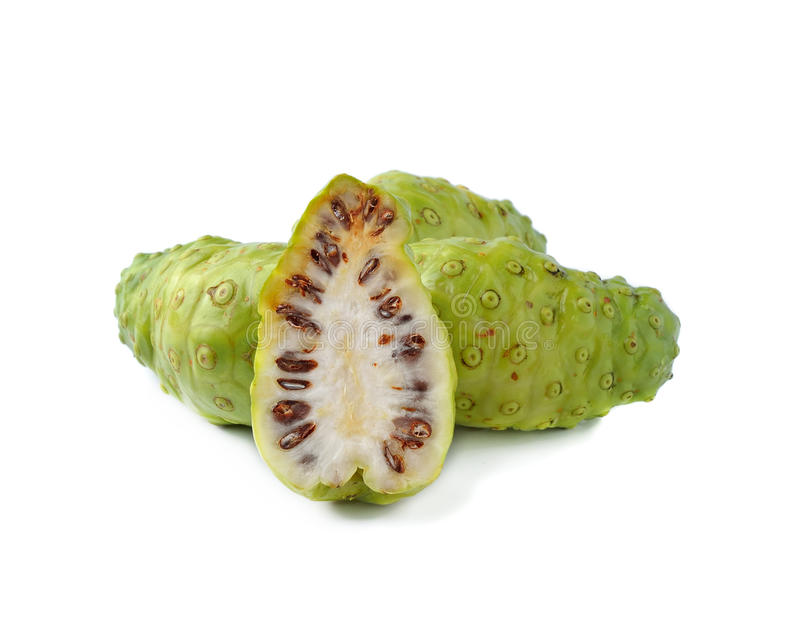 Exotische Frucht - Noni lizenzfreie stockfotos