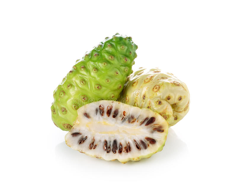 Exotische Frucht - Noni stockfoto