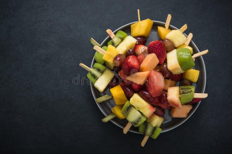 Exotische Fruchtparteisnäcke, Lebensmittelhintergrund stockbilder