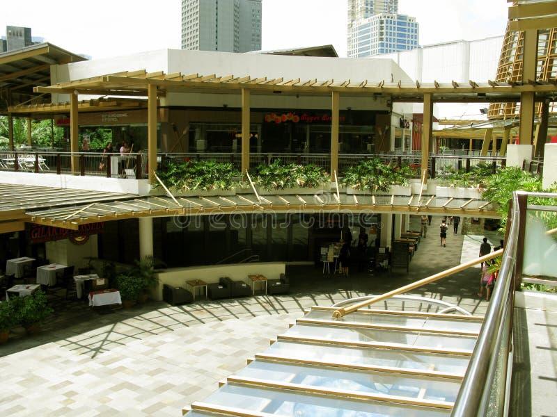 Exotische Restaurants, Groengordel 3, Makati, Filippijnen stock fotografie