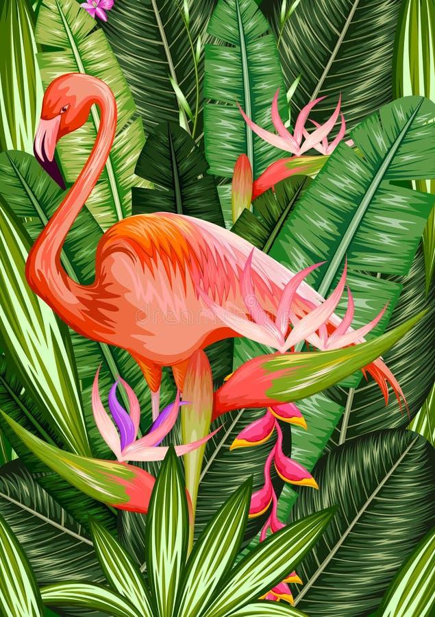 Exotische Tropische Achtergrond stock illustratie