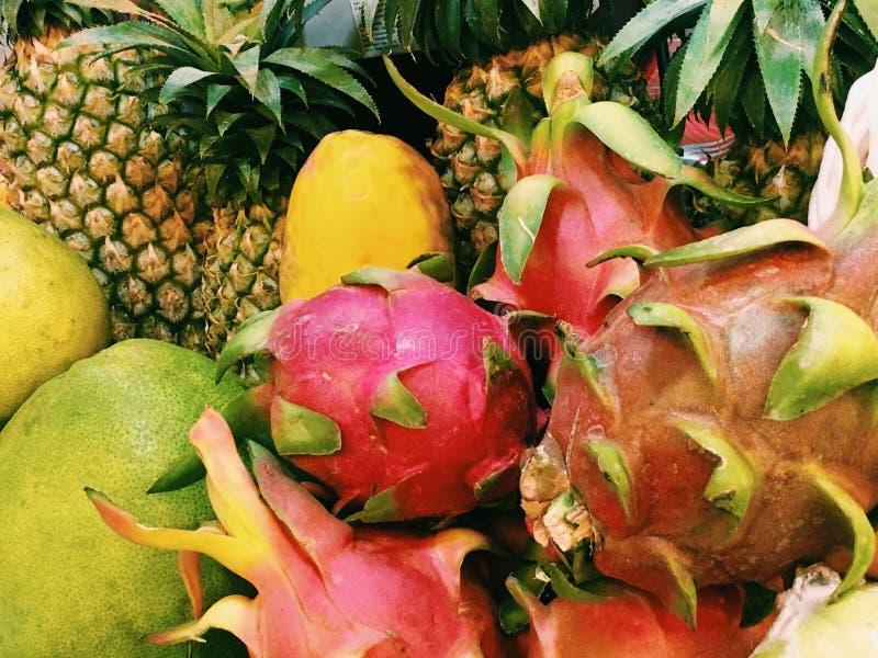 Exotische vruchten royalty-vrije stock foto's