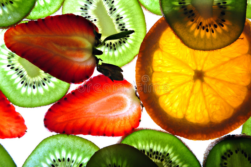 Exotische vruchten achtergrond royalty-vrije stock foto