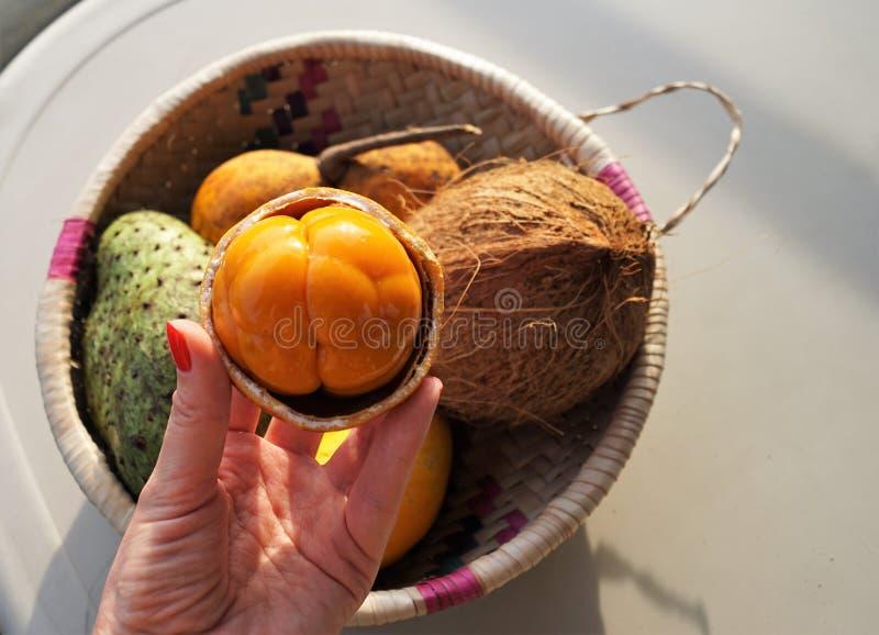 Exotische vruchten in Afrika stock fotografie