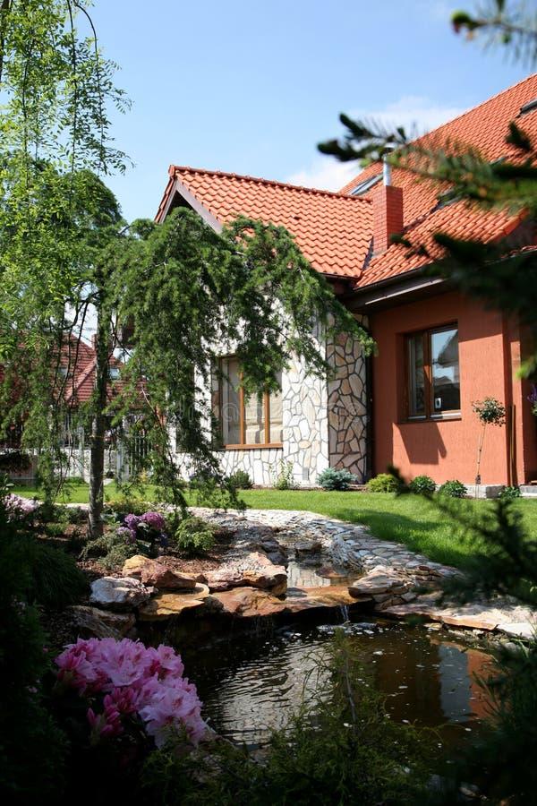 Exotischer Garten lizenzfreies stockbild