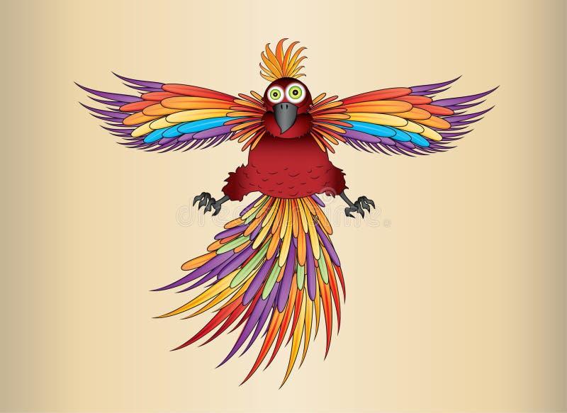 Exotischer Papagei in den Regenbogenfarben vektor abbildung