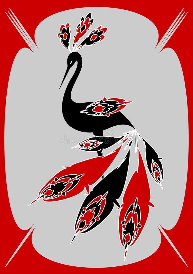 Exotischer Vogel vektor abbildung