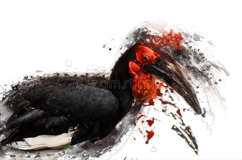 Exotischer Vogel, abstraktes Tierkonzept lizenzfreie abbildung