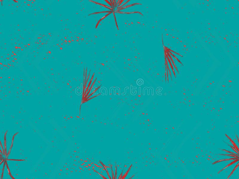 Exotisches Muster des Indigos vektor abbildung