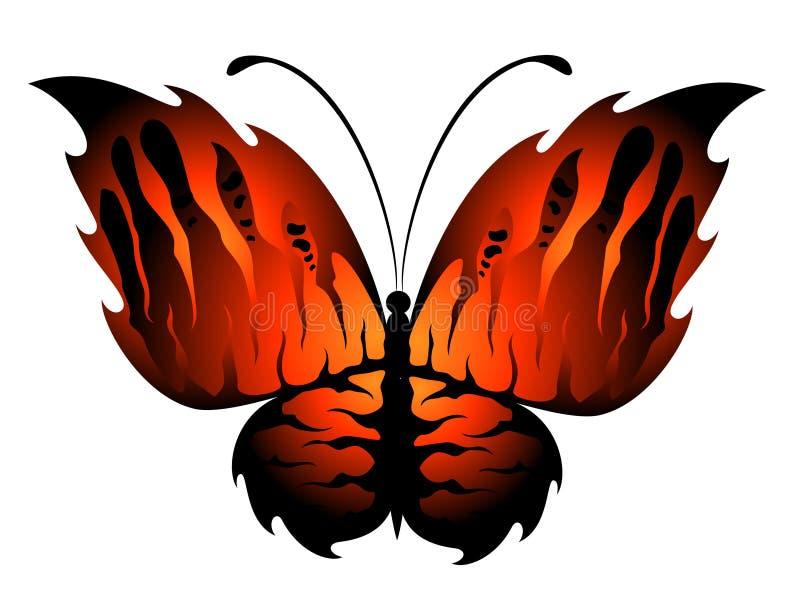 exotisk fjäril royaltyfri illustrationer