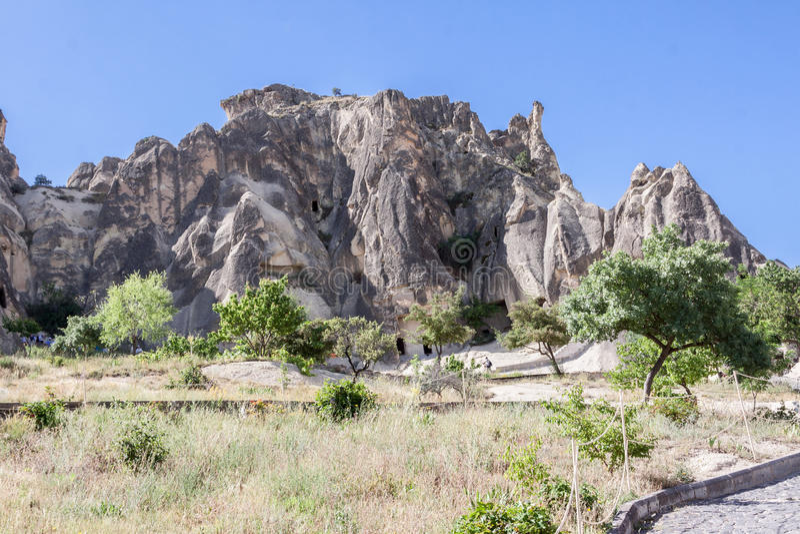 Exotisk geografi Cappadocia arkivfoto