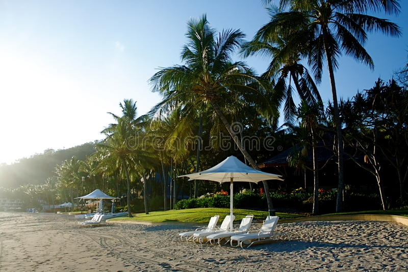 exotisk semesterort för strand fotografering för bildbyråer
