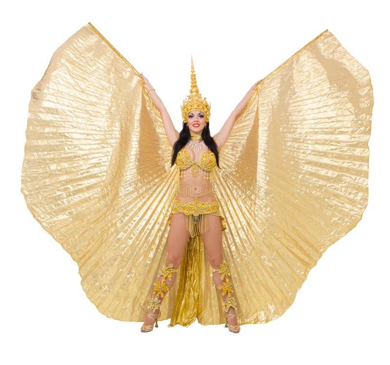 exotiskt flickaslitage för attraktiv klänning royaltyfri fotografi