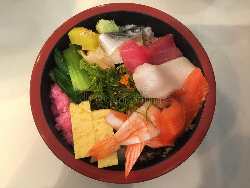 Exotiskt japanskt mål - Sashimi royaltyfri bild