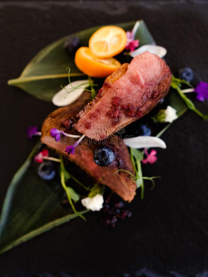 Exotiskt recept för Thailand kokkonstmål arkivbilder