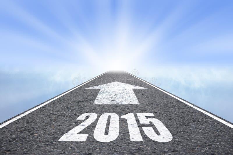Expédiez au concept de la nouvelle année 2015 photos stock