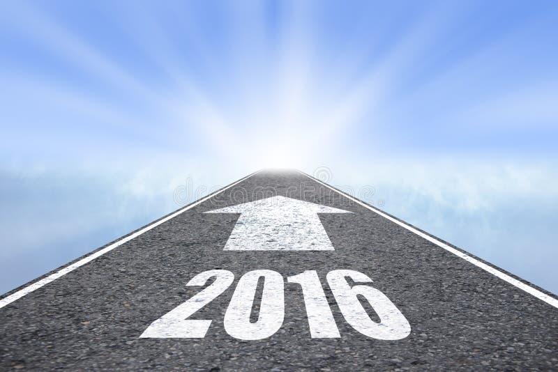 Expédiez au concept de la nouvelle année 2016 images libres de droits
