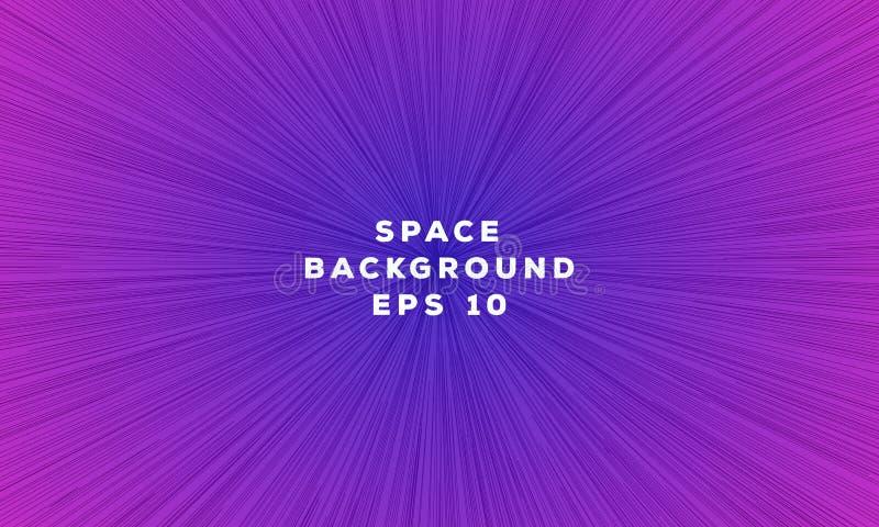 Expédiez la ligne style à la mode de gradient de couleur de backgound géométrique de l'espace pour la page Web illustration libre de droits