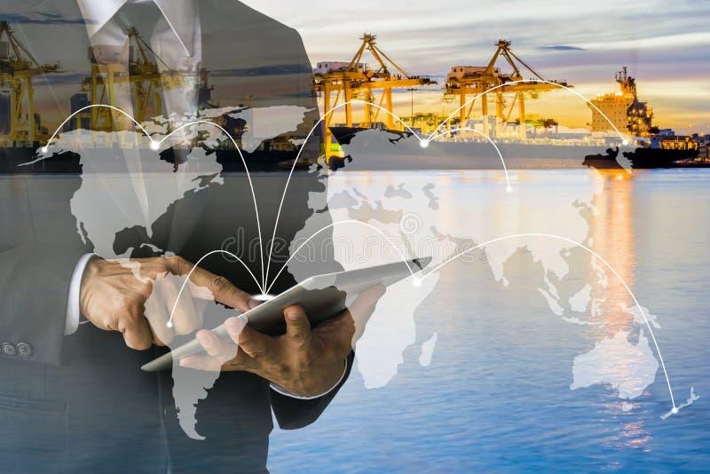 Expédition à la croissance mondiale de métier de la distribution photo libre de droits