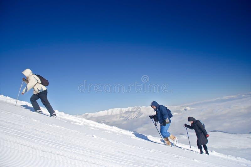 Expédition alpestre montant Mt. SAR Planina image stock