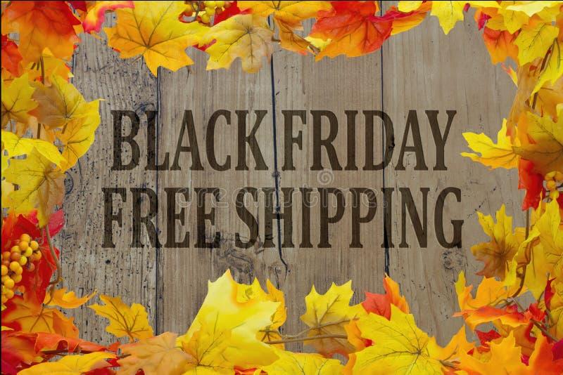 Expédition gratuite d'achats de Black Friday images libres de droits
