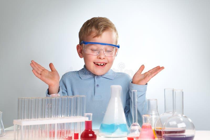 Expérience chimique photo stock