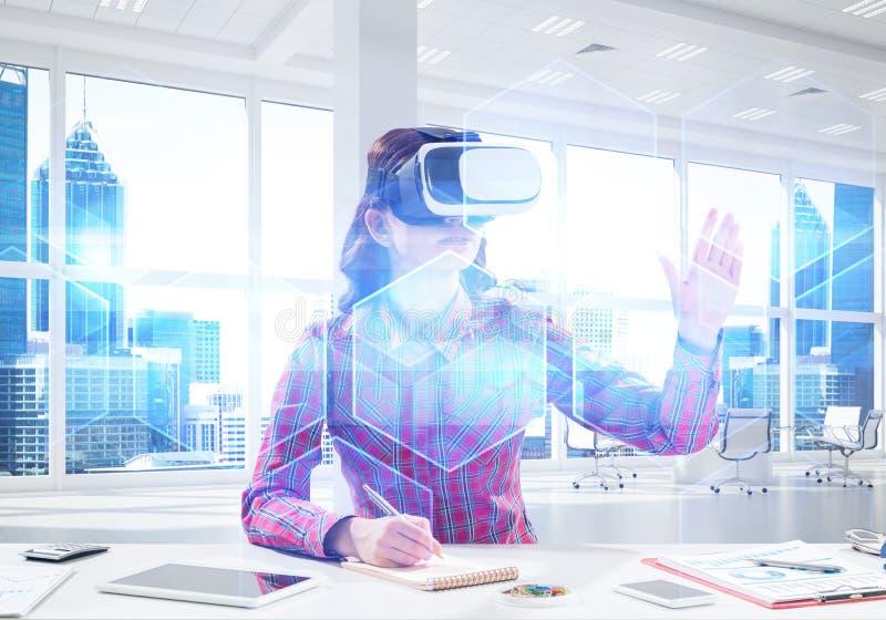 Expérience de réalité virtuelle photo libre de droits