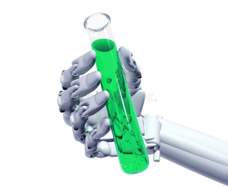 Expérience robotique illustration de vecteur