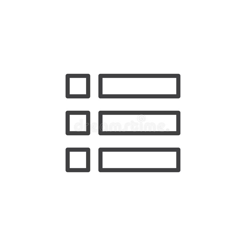 Expand menu outline icon royalty free illustration