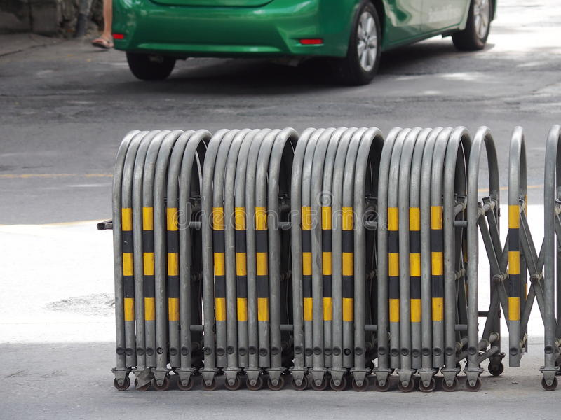 Expandable traffic barrier royalty free stock photo