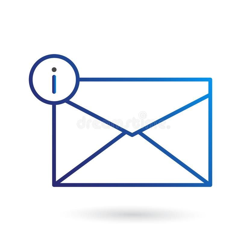 Info Mail Icon, Envelope Icon. This mail icon is suitable for your web design project stock illustration