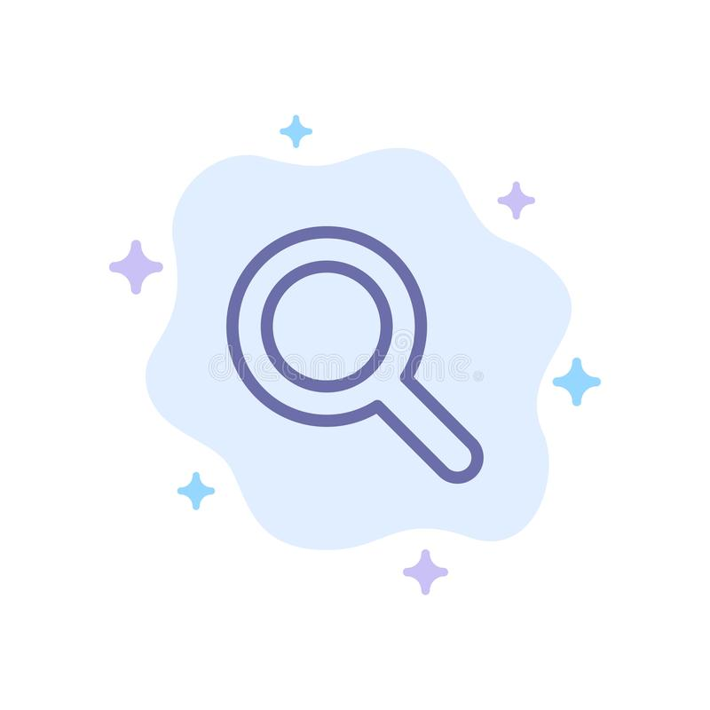 Expanded, Search, Ui Blue Icon on Abstract Cloud Background stock illustration