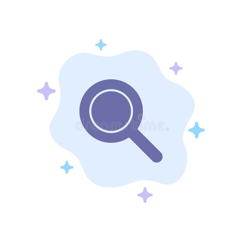 Expanded, Search, Ui Blue Icon on Abstract Cloud Background vector illustration
