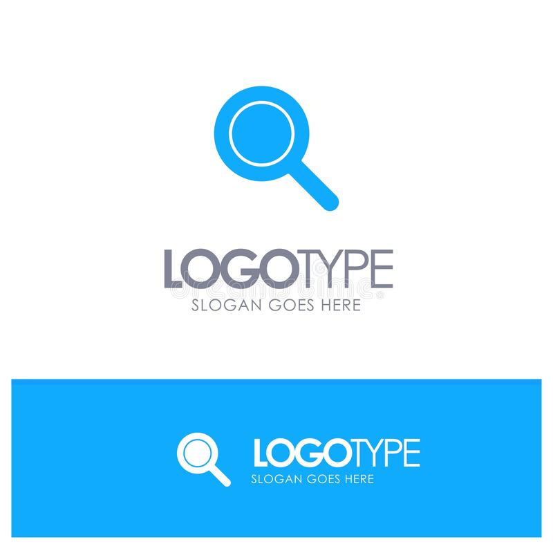 Expanded, Search, Ui Blue Solid Logo with place for tagline vector illustration
