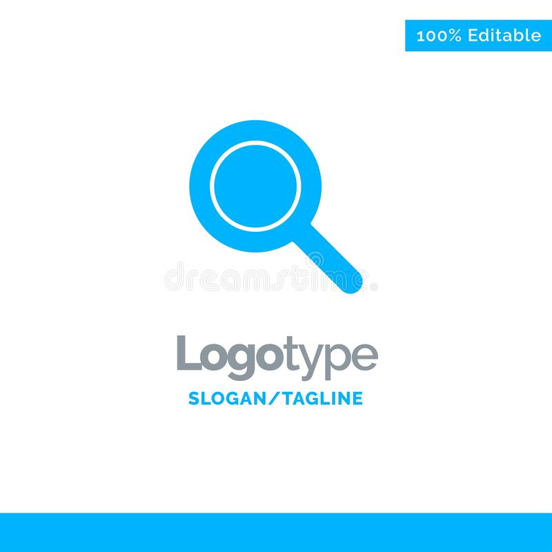 Expanded, Search, Ui Blue Solid Logo Template. Place for Tagline royalty free illustration