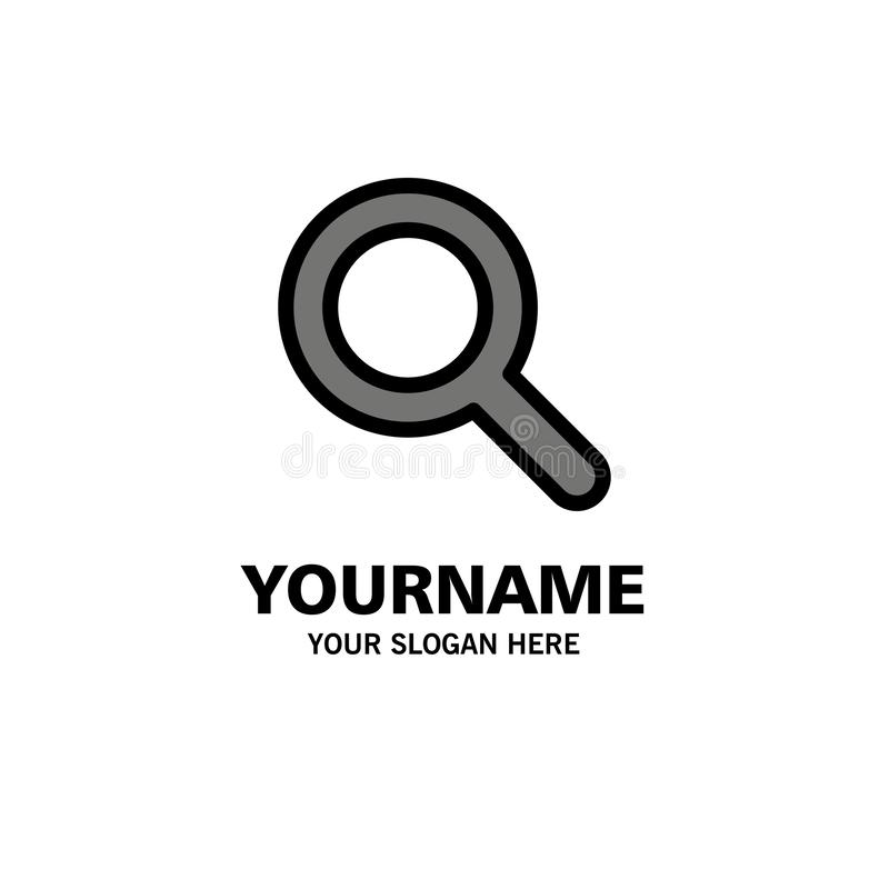 Expanded, Search, Ui Business Logo Template. Flat Color royalty free illustration