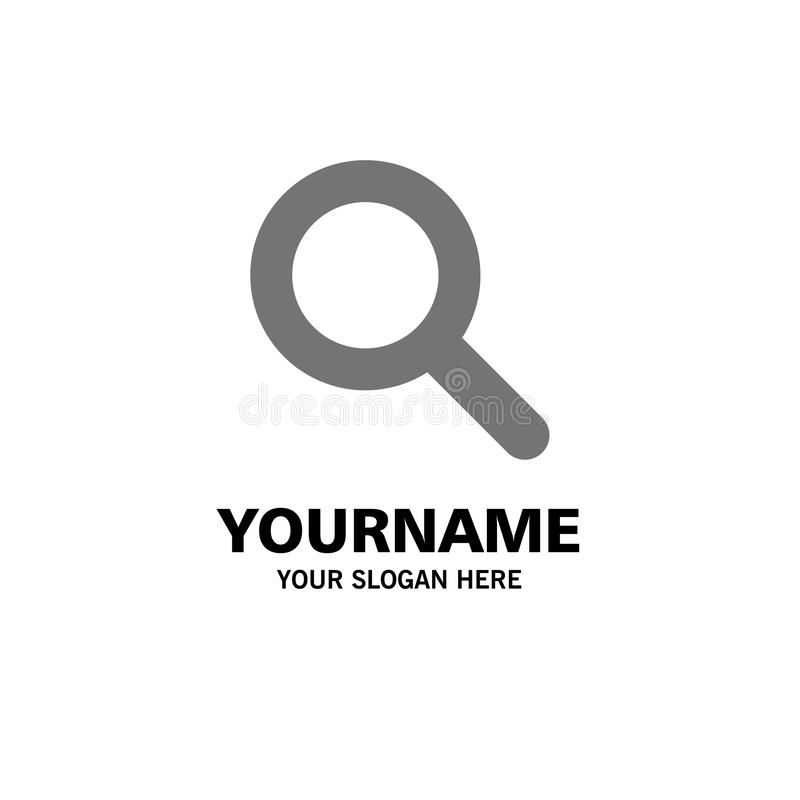 Expanded, Search, Ui Business Logo Template. Flat Color stock illustration