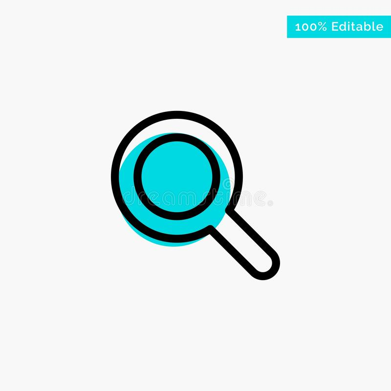 Expanded, Search, Ui turquoise highlight circle point Vector icon royalty free illustration