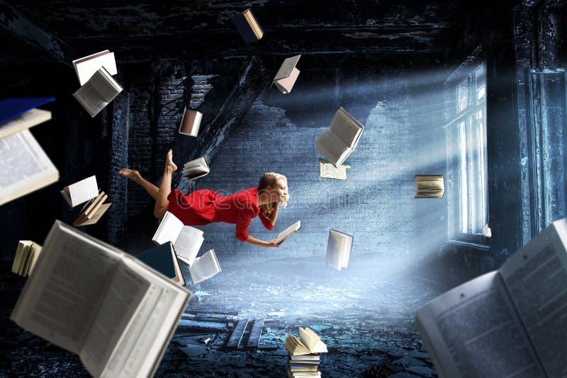 Expandindo a imaginação Meios mistos ilustração do vetor